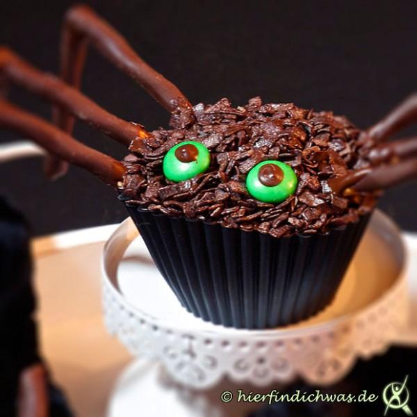 Spinnenmuffins Rezept Cupcakes Gruselabend