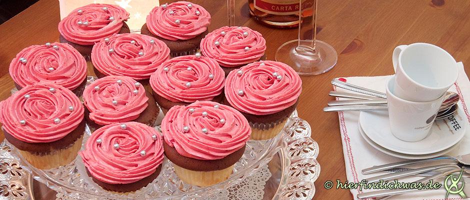 Cupcake, Muffin, mit Himbeertopping