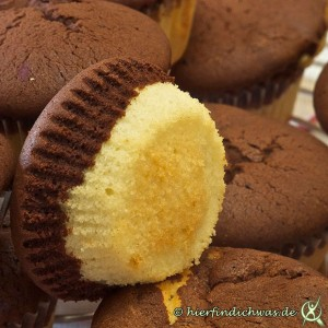 Marmor-Muffin zwei Teige