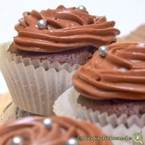 Schokoladenmuffin mit Schokoladen Topping