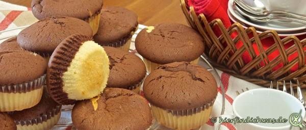 Marmor-Muffin Cupcake Muffin zwei Teige