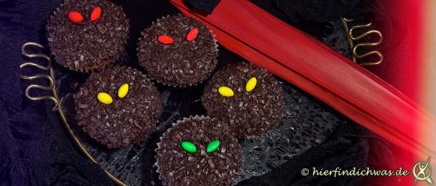 grusel daemonen muffins fuer eine mottoparty halloween. Black Bedroom Furniture Sets. Home Design Ideas