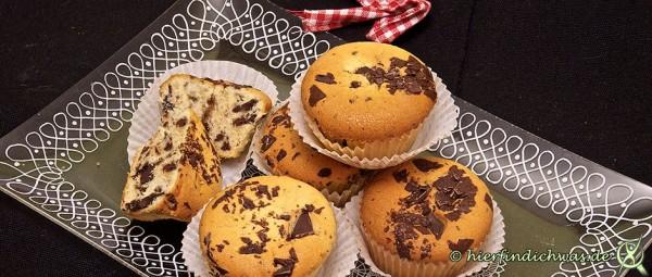 Muffin mit Schokoladensplittern einfach schnell