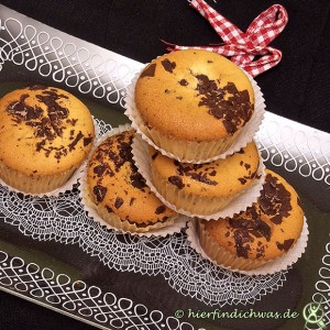 Cupcake Muffin Schoko Stücke