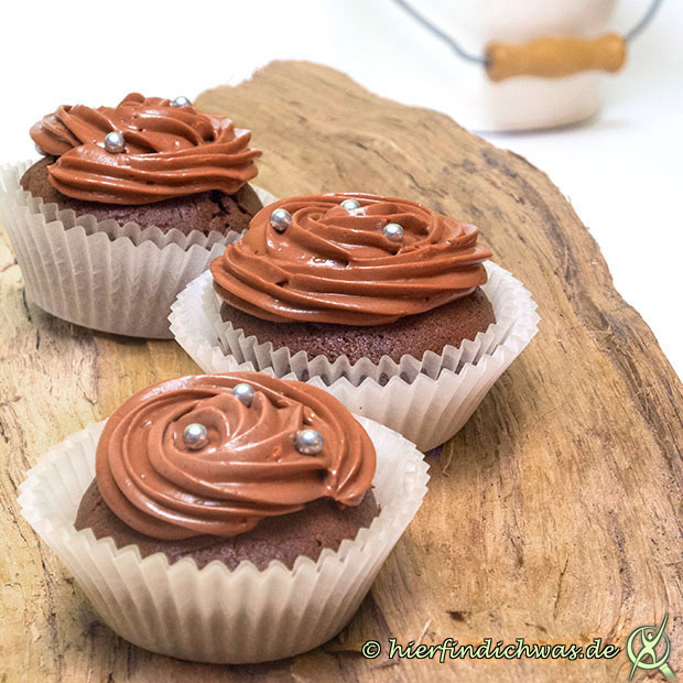 Cupcake mit Schokoladen Frosting