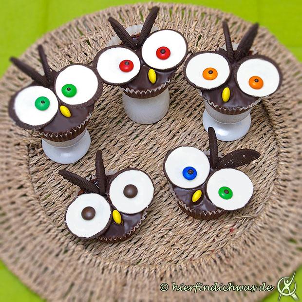 Rezept Oreo Cupcakes als Eule
