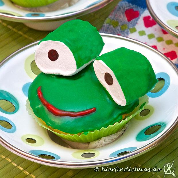 Backrezepte Cupcakes Frosch