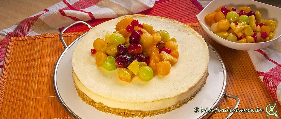 Cheesecake Rezept mit Fruechten