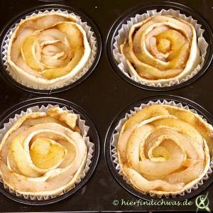 Blaetterteig Rezepte Apfelrose