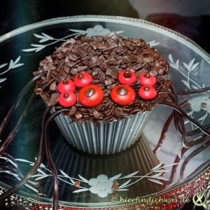 Muffins fuer eine Mottoparty Halloween