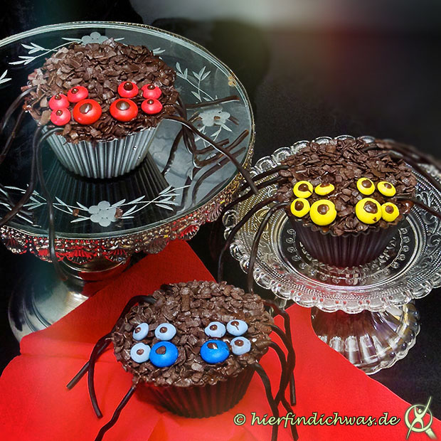 Cupcakes Muffins Spinne Party