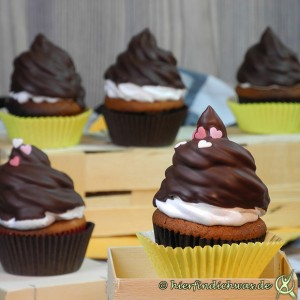 Muffins mit Schokoladen Topping