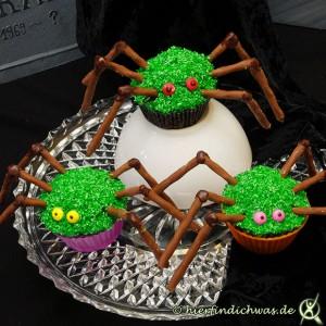 Ideen Gruselabend Muffin als Spinne