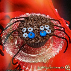 Spinnenmuffins zum Gruseln
