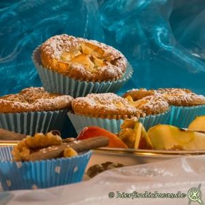 Apfelmuffin mit Walnuss
