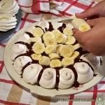 Baiserkuchen mit Bananen