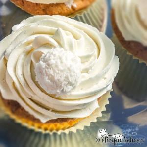 Cupcake mit weißer Schokolade