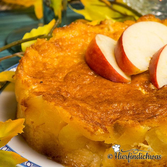 Apfelkuchen mit Weisswein
