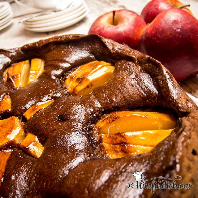 Apfelkuchen - Schokokuchen