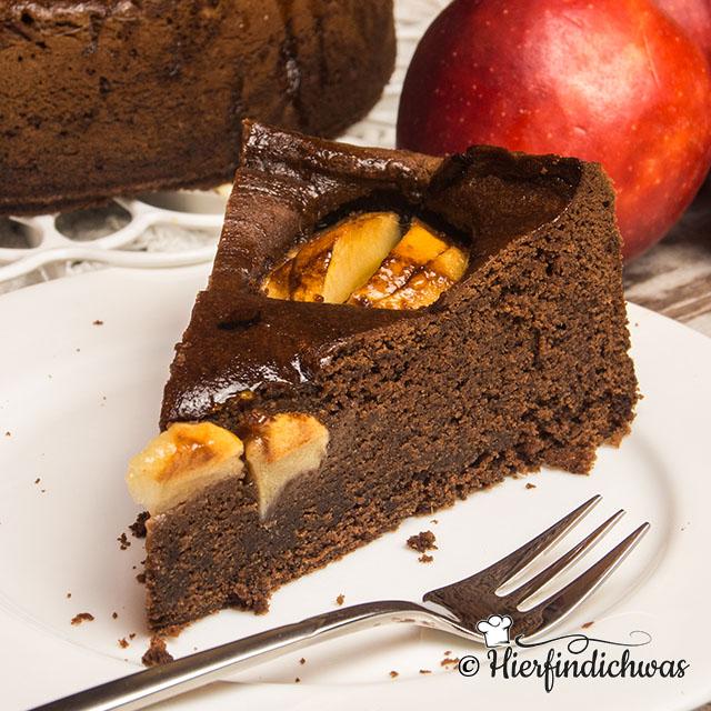 Wurziger Apfelkuchen Mit Ingwer Zimt Muskat Schokolade
