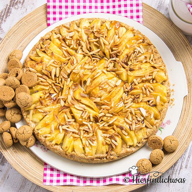Apfelkuchen mit Broeselboden