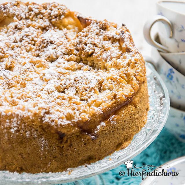 Apfelkuchen Mit Zwieback Einfach Schnell Und Lecker