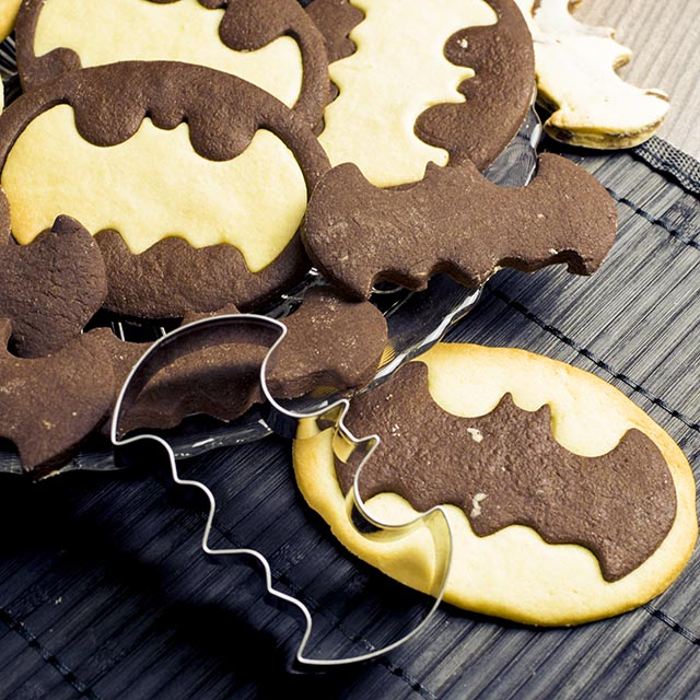 Schwarz Weiss Gebackteig The Dark Cookie Rieses Batman Platzchen