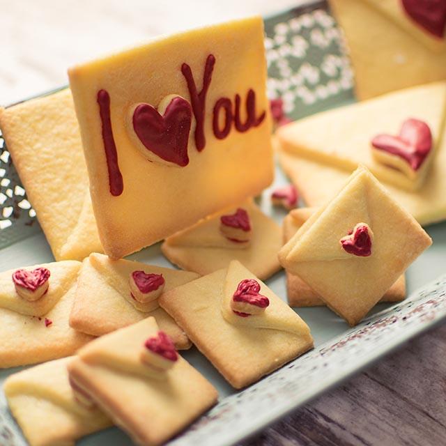Liebesbriefkekse Fur Valentinstag Mit Leckerem Butterkeksteig