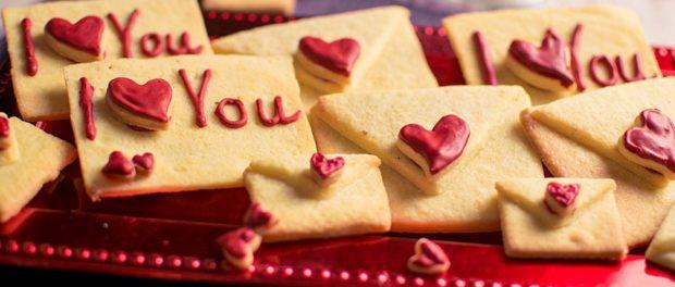 Liebesbriefkekse-Valentinstag