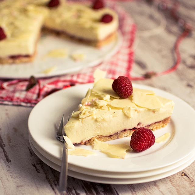 Cheesecake Rezept Mit Weisser Schokolade Und Krumelboden