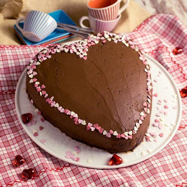 Schokoladetorte-Herzform