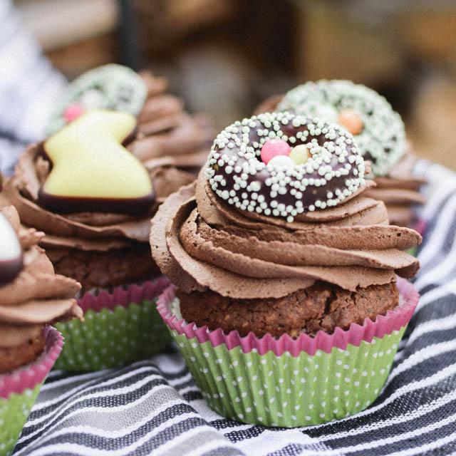 Schokoladencupcake Ostern