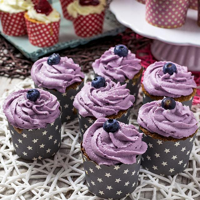 Blaubeer-Cupcakes-Rezept
