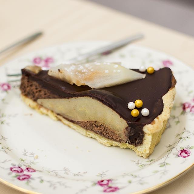 Birnenkuchen mit Schokolade