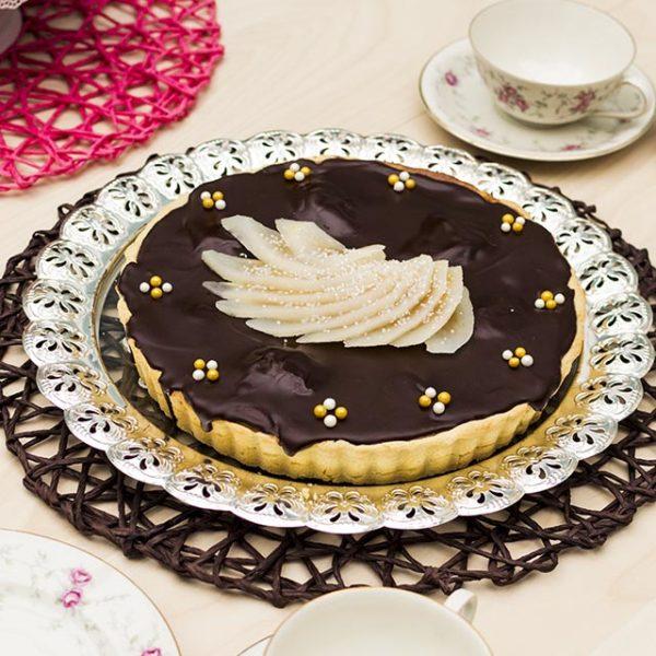 Birnentarterezept mit Schokolade