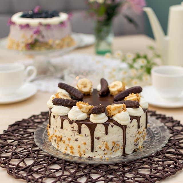 Bananentorte-Drip-Cake