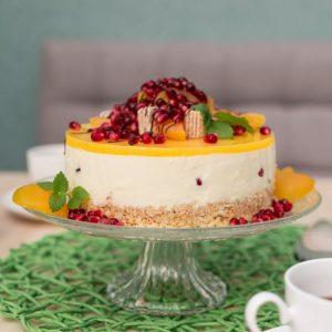 Tortenrezept mit Aprikose und Broeselboden