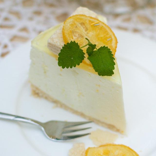 Torte mit Zitronengeschmack