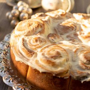Vanillekuchen mit Hefe