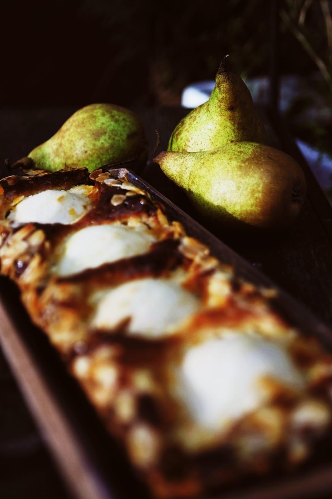 Birnen-Marzipan-Tarte
