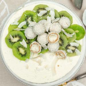Leichte Kiwi-Torte mit Kokos